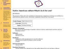 Native American culture-What's in it for you? Lesson Plan