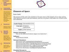 Pioneers of Space Lesson Plan
