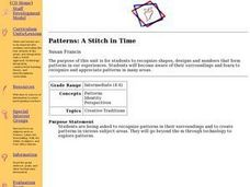 Patterns: A Stitch in Time Lesson Plan