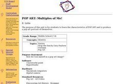 Pop Art: Multiples of Me! Lesson Plan