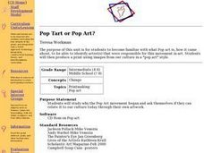 Pop Tart or Pop Art? Lesson Plan