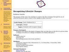 Recognizing Lifestyle Changes Lesson Plan