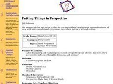 Putting Things in Perspective Lesson Plan