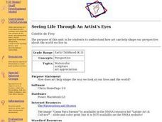 Seeing Life Through An Artist's Eyes Lesson Plan