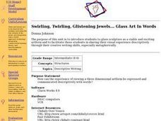 Swirling, Twirling, Glistening Jewels... Glass Art In Words Lesson Plan