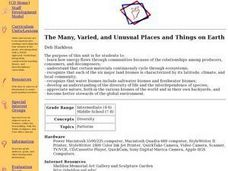 The Many, Varied, and Unusual Places and Things on Earth Lesson Plan
