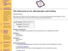 The Holocaust in Art, Photography and Writing Lesson Plan