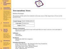 Tree-mendous Trees Lesson Plan