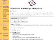 Westward Ho-- With Multiple intelligences Lesson Plan