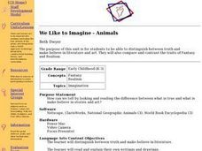 We Like to Imagine - Animals Lesson Plan