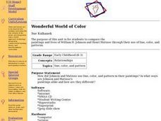 Wonderful World of Color Lesson Plan