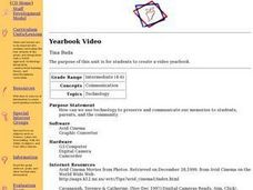 Yearbook Video Lesson Plan