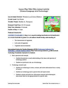 Ohio Animal Activity Lesson Plan