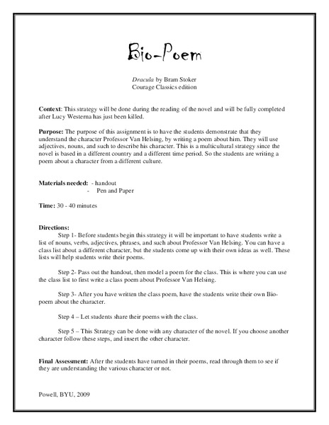 Dracula Lesson Plans Worksheets Lesson Planet