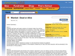 Wanted Dead or Alive! Lesson Plan
