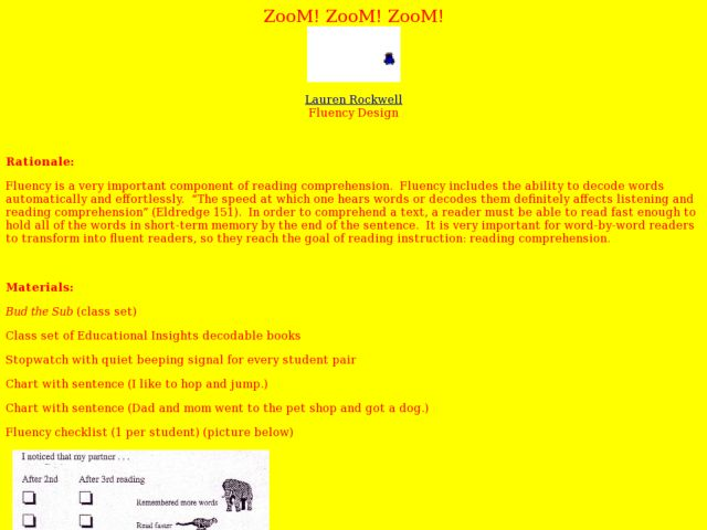 Zoom, Zoom, Zoom! Lesson Plan