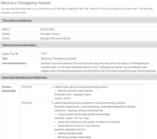 Become a Thanksgiving Historian Lesson Plan