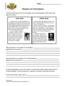 Biography and Autobiography Lesson Plan