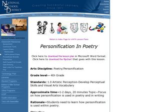 Personification in Poetry Lesson Plan