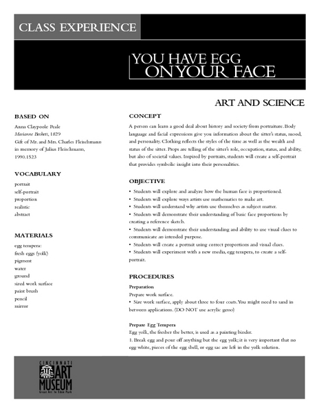 You Have Egg On Your Face Lesson Plan