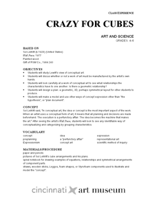 Crazy for Cubes: Art and Science Lesson Plan