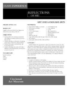 Reflections Of Me! Lesson Plan