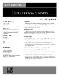 Pop Art Pins & Magnets Lesson Plan