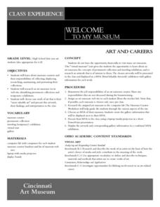 Art and Careers Lesson Plan