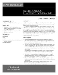 Web Designs: A Story Comes Alive Lesson Plan