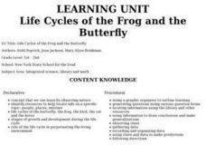 Life Cycles of the Frog and the Butterfly Lesson Plan