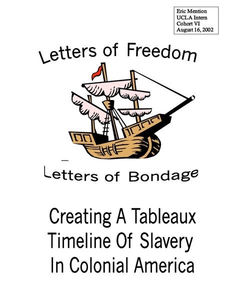 Colonial America Slavery Lesson Plans & Worksheets