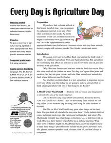 Everyday Is Agriculture Day Lesson Plan