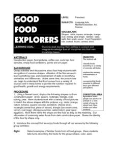 Good Food Explorers Lesson Plan