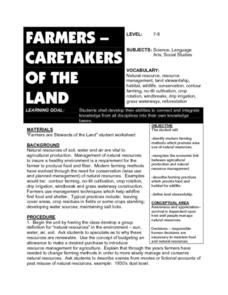 Farmers - Caretakers of the Land Lesson Plan