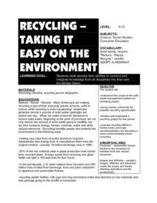 Recycling-Taking it Easy on the Environment Lesson Plan