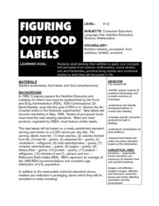 Figuring Out Food Labels Lesson Plan