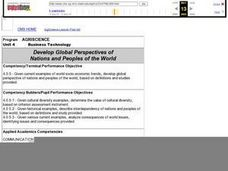 Develop Global Perspectives of Nations and Peoples of the World Lesson Plan