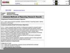 Examine Methods of Reporting Research Results Lesson Plan