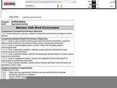 Maintain Safe Work Environment Lesson Plan