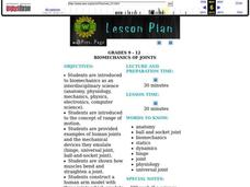 Biomechanics of Joints Lesson Plan
