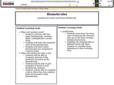Biomolecules Anic Pounds Molecular Biology Lesson Plans Designed For High And Middle Science Teachers Are Able Here