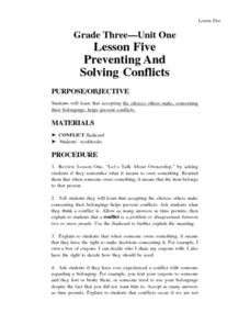 Preventing And Solving Conflicts Lesson Plan