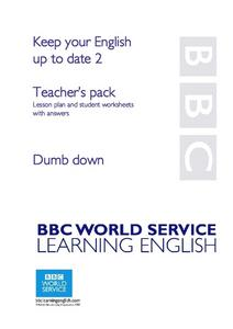Dumbing Down Lesson Plan