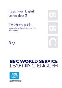 Blogs and Other Internet Vocabular Lesson Plan