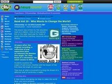 Band Aid and Changing the World Lesson Plan