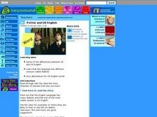 Potter and US English Lesson Plan