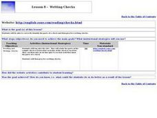 Writing Checks Lesson Plan