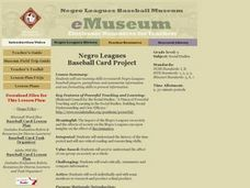 Negro Leagues Baseball Card Project Activities & Project