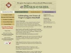 Celebrating 100 Years of Negro Leagues Baseball Lesson Plan