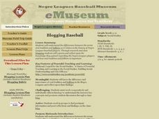 Blogging Baseball Lesson Plan